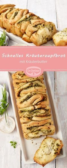 Schnelles Kräuterzupfbrot Fast herb pluck bread: A spicy pluck bread with herb butter Crock Pot Recipes, Casserole Recipes, Lunch Recipes, Slow Cooker Recipes, Appetizer Recipes, Vegetarian Recipes, Dinner Recipes, Healthy Recipes, Vegetarian Appetizers