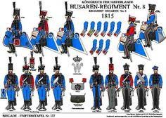 Tafel : 137. konigreich der Nierderlande. husaren- regiment nr.8. 1815. Waterloo 1815, Napoleonic Wars, Nassau, Dutch, Plates, Google Search, Dutch Rabbit, Military Personnel, Arms