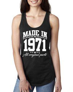 Made in 1971 all original parts Ladies Racerback Tank Top