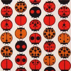 off-white ladybugs animal organic fabric birch USA