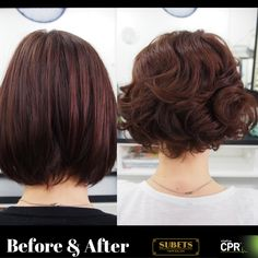 Before and After Perm done by Chantelle using CPR no rinse perm.  Great result.