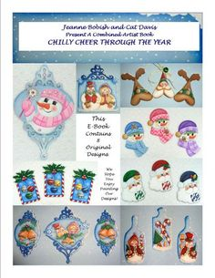 The Decorative Painting Store: Chilly Cheer Throughout the Year eBook BY DOWNLOAD, Newly Added Painting Patterns / e-Patterns - 8 Winter Projects by Jeanne Bobish and Cat Davis in downloadable form.