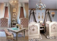 Interesting ideas to design children's rooms for twins