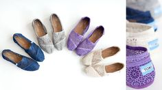New TOMS Crochet shoes! Such fun colors!
