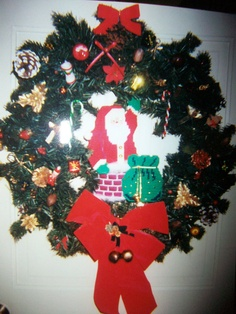 Santa was stitched on plastic canvas