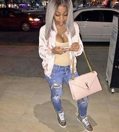 WEBSTA @ amourjayda - I'm dripping on em baby how you love dat❤️🤔 Lit Outfits, Dope Outfits, Winter Outfits, Fashion Outfits, Fashion Trends, Pretty Outfits, Cute Hipster Outfits, My Outfit, Outfit Ideas