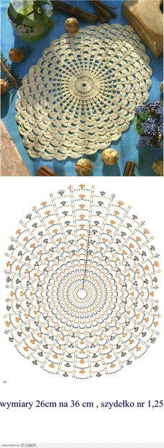 Luty Artes Crochet: Gráficos d Crochet Mat, Crochet Dollies, Crochet Doily Patterns, Crochet Mandala, Crochet Diagram, Crochet Round, Crochet Home, Thread Crochet, Irish Crochet