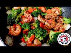 Camarones con brocoli Comida China - YouTube