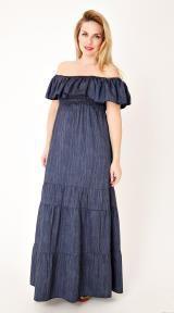 τζιν μακρύ φόρεμα