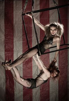 Aerial cube. Celeste and Bethany. Sky Candy Austin. --- Circus by Geoffrey Hammond, via Behance
