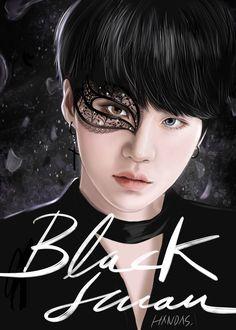 Art by Handas Bts Suga, Min Yoongi Bts, Bts Bangtan Boy, Foto Bts, Bts Photo, Anime Wolf, Anime Outfits, Fanart Bts, Yoonmin Fanart