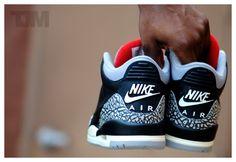 Air Jordan III – Black/Cement (by Arab Lincoln) #sneakers