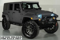 2014 Lifted Jeep Wrangler Unlimited Kevlar Coated Custom Leather #JEEP…