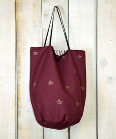 Squirrel row, shoopiing bag stars granate www.squirrelrow.es