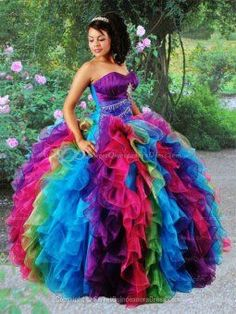 Colorful quince dress