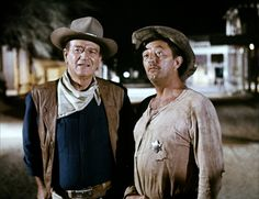 John Wayne And Robert Mitchum In El Dorado 1966