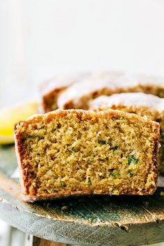 Healthier Lemon GREEK YOGURT Zucchini Bread, Recipe from chelseasmessyapron.com