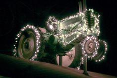 a John Deere Christmas.John Deere Model A Country Christmas, Outdoor Christmas, Christmas Lights, Christmas Holidays, Redneck Christmas, Holiday Lights, Christmas Ideas, Christmas Decorations, Antique Tractors