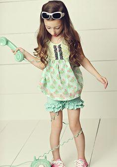 Matilda Jane- Hello Lovely Pretty Pattern Sara Top Retail: $42