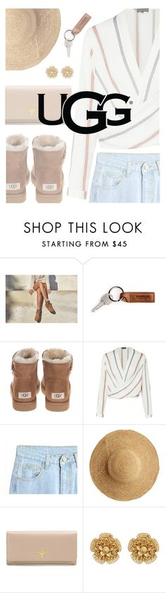 """The New Classics With UGG: Contest Entry"" by bonjourparismylove ❤ liked on Polyvore featuring UGG, UGG Australia, Flora Bella, Prada, Miriam Haskell and ugg"