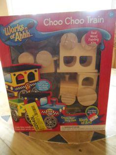 PAINTING KIT CHOO CHOO TRAIN. REAL WOOD. NEW IN BOX.