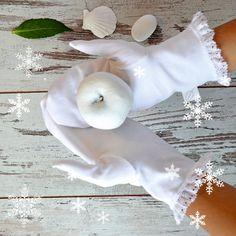Woman Home SPA mittens  Moisturizing Natural by pureWHITEspa