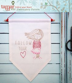 Embroidery Pattern PDF Pattern Instant Download by TamarNahirYanai
