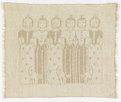 Dora Jung | Princesses | tray cloth | damask | linen | Finland | c. 1947–'48