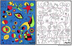 Ode to Joan Miro Mural Diagram   Art Projects for Kids