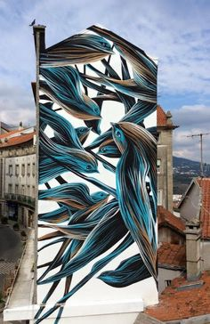 Street Art by Pantonio in Covilha, Portugal