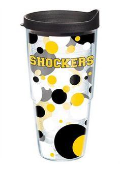 Wichita State Shockers 24oz Polka Dot Tumbler http://www.rallyhouse.com/shop/wichita-state-shockers-tervis-tumblers-wichita-state-shockers-colossal-wrap-24oz-tumbler-4454306?utm_source=pinterest&utm_medium=social&utm_campaign=Pinterest-WSUShockers $22.99