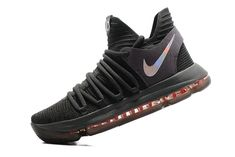 79599566350 New Authentic KD 10 Kevin Durant X Time To Shine Black Silver Red Mens  Basketball Shoes 2018 Sale