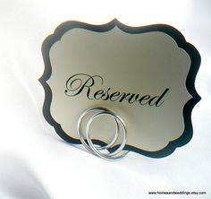 Wedding Reception Decorations Table Place by HomesAndWeddings, $34.00