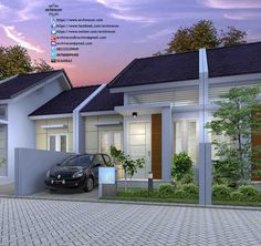 ideas exterior green house dreams for 2019 Bungalow House Design, House Front Design, Small House Design, Narrow House Designs, Cool House Designs, House Paint Exterior, Exterior Design, Townhouse Designs, Exterior Remodel