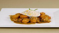 Κοτόπουλο με κάρι και βασιλικό – Χρυσές Συνταγές Yams, Curry, Chicken, Meat, Ethnic Recipes, Food, Curries, Essen, Yemek