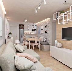 40 cheap apartment decorating ideas 35 - Home Decor Condo Interior Design, Condo Design, Room Interior, House Design, Home Living Room, Living Room Designs, Small Condo Living, Studio Apartment Living, Cozy Living