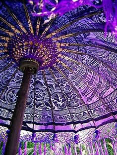Purple Stained Gl Windows Create An Amazing Ceiling With The Sun Shining Through