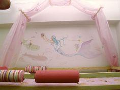 παιδικό δωμάτιο με γοργόνες Toddler Bed, Home Decor, Child Bed, Decoration Home, Room Decor, Home Interior Design, Home Decoration, Interior Design
