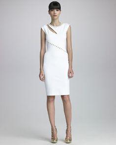 Blumarine Studded Crepe Dress - modern luxe