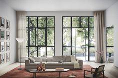 Bilder, Vardagsrum, Soffa, Grå, Svart, Fönster, Modernt - Hemnet Inspiration