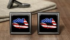 Stylized American Flag Cuff Links American USA Cufflink Gift American USA Wedding Cufflinks Patriotic American Gifts Father's Day Present