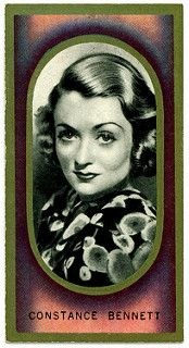 """Constance Bennett ( of 50 issued in Carreras Cigarettes """"Film Favourites"""" Golden Age Of Hollywood, Old Hollywood, Constance Bennett, Collectible Cards, Collector Cards, Jazz Age, Ephemera, Digital Scrapbooking, Movie Stars"""