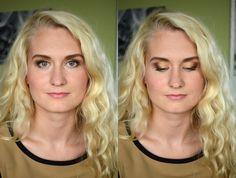 Smoky golden makeup by Liina Ütt