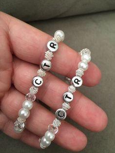 LDS Baptism CTR Bracelet Handmade by by JillsHandmadeJewelry