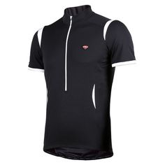 Short-sleeved cycling jersey ENIGMA in black, by Bicycle Line Italia