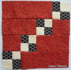"""Leftovers quilt block tutorial using 2 1/2"""" strips LOOSE THREADS"""