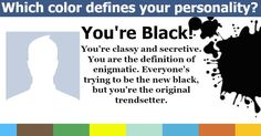 Which color brings out your personality?