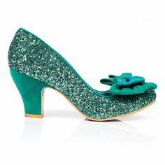 Irregular Choice Ban Joe Cinderella Glitter Bow Vintage Wedding Prom Shoes UK | eBay