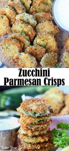 Breaded Zucchini Parmesan Is Fried Until Crispy And Baked In A Casserole Dish With Layers Of Marinara Sauce And Mozzarella Cheese. Baked Zucchini Parmesan, Zucchini Crisps, Zucchini Cheese, Bake Zucchini, Cauliflower Cheese, Yummy Zucchini Recipes, Healthy Recipes, Keto Recipes, Vegetarian Recipes