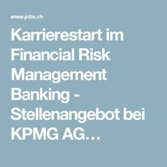 Karrierestart im Financial Risk Management Banking - Stellenangebot bei KPMG AG…
